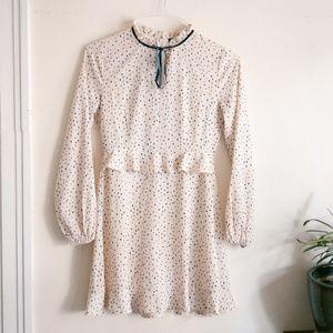 Nasty Gal Polka Dot Collared Dress